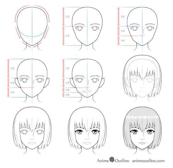 Gampang Dibuat 10 Cara Menggambar Wajah Dengan Berbagai Bentuk Di 2021 Menggambar Wajah Cara Menggambar Tutorial Menggambar Manga
