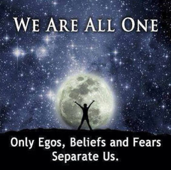 just egos, beliefs and fears...  Interesting!!