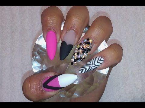 Uñas acrilicas matte / Acrylic nails & Gel matte - http://www.nailtech6.com/unas-acrilicas-matte-acrylic-nails-gel-matte/