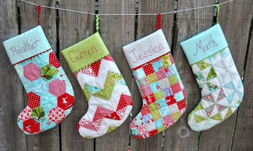 Handmade Christmas Stockings. http://www.hobbycraft.co.uk/christmas #christmas #stocking #handmadechristmas FOR CHRISTMAS just an idea