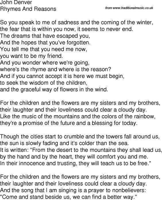 John Denver - Take Me Home Country Roads Lyrics