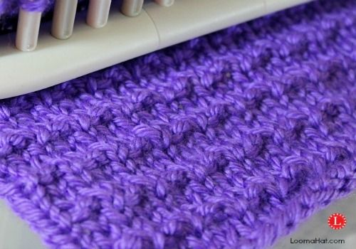 Basic Knitting Stitch Step By Step : Andalusian Stitch on a Knitting Loom very simple . A combination of the knit ...