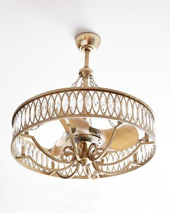 HOWRCHOW: Crystal 8-Light Pendant with Fan