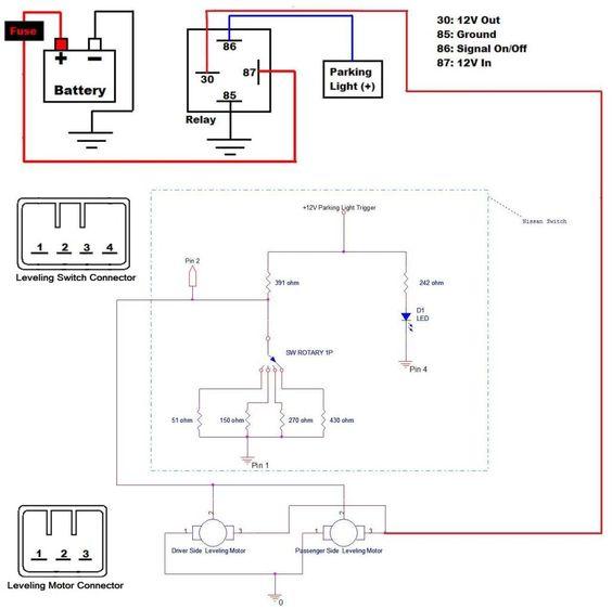 Inspire Headlight Leveling Motor Wiring Honda Accord