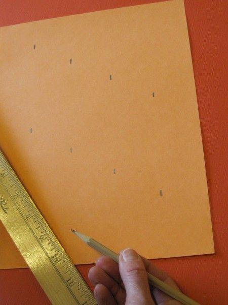 Cool measurement trick for dividing paper into equal parts!
