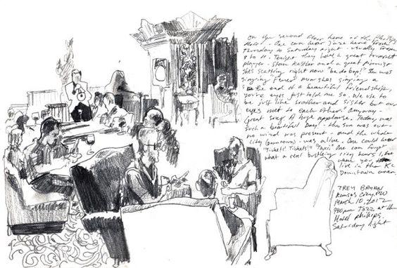Trey Bryan, Kansas City via Urban Sketchers
