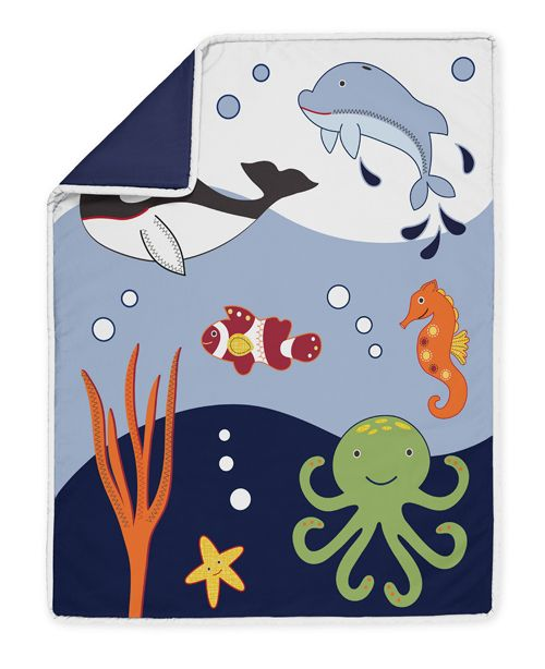 Ocean Baby Bedding | ... THE SEA LIFE OCEAN FISH BOY BABY BEDDING CRIB SET SWEET JOJO DESIGNS