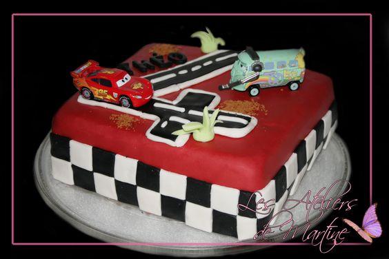 Mon g teau cars pour l 39 anniversaire de th o 4 ans - Gateau anniversaire 4 ans ...