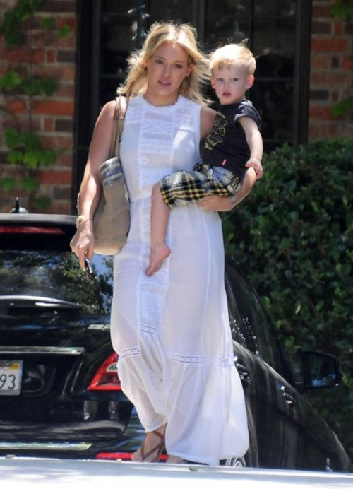6/19/14- Hilary Duff with her son Luca in Beverly Hills.