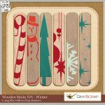 Wooden Sticks No.1- Winter by Giny Scrap
