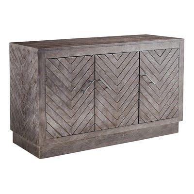 Elwood 3 Door Chevron Cabinet Rustic Home Decor Creative Furniture Decor