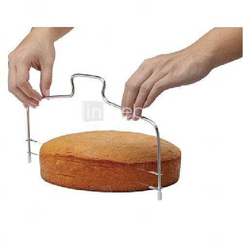 de moda de doble línea ajustable herramientas de corte la torta del metal de acero inoxidable molde dispositivo de máquina de cortar la - USD $3.99