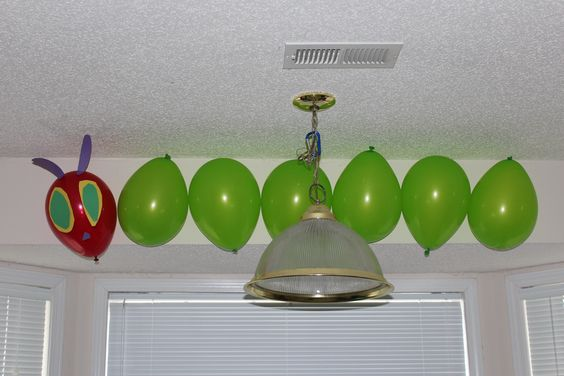 Very Hungry Caterpillar in balloons