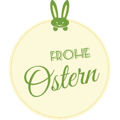 Aufkleber Frohe Ostern 5