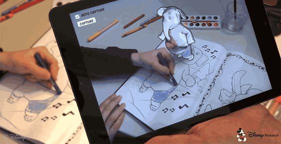 Disney crea aplicación para colorear dibujos en Realidad Aumentada. VER DETALLES: http://www.audienciaelectronica.net/2015/10/disney-crea-aplicacion-para-ver-dibujos-en-realidad-aumentada/