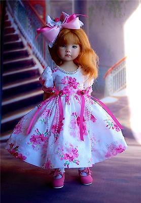 "Valentine Flowers for 13"" Effner Little Darling by Sharon | eBay. Ends 2/2/14. Sold for $55.35."