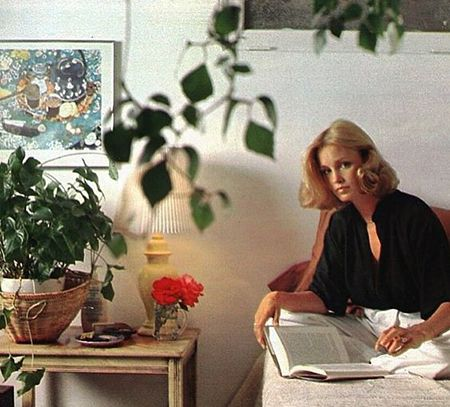 Jessica Lange at Home in the mid 1970s