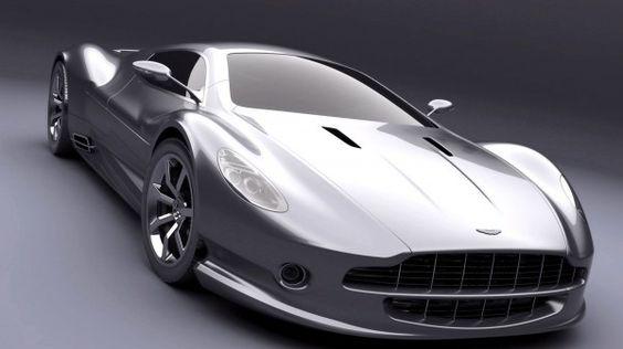 Silver Aston Martin AMV10, WoW.
