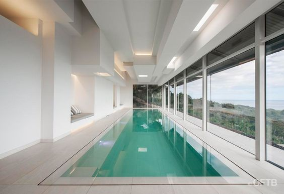 OFTB Melbourne landscaping, pool design & construction project - lap pool with wetdeck & infloor automatic pool cover
