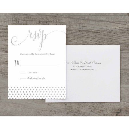 She Said Yes Deluxe Rsvp, Silver