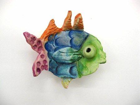 Neve19's art on Artsonia Second grade clay fish dish