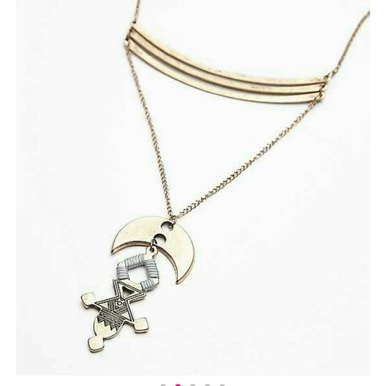 Free People Jewelry - Free people sacred stacked gold pendant NWT $38
