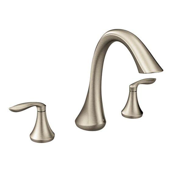 Eva Double Handle Deck Mount Roman Tub Faucet In 2020 Roman Tub Faucets Tub Faucet Faucet