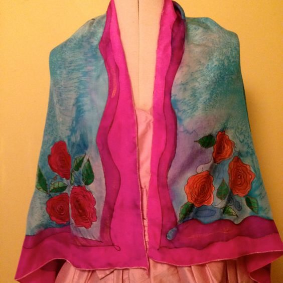 Handpainted  Silk Prayer Shawl by The Silk Maid by thesilkmaid, $65.00