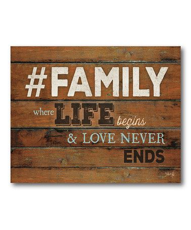 Another great find on #zulily! '#Family' Wrapped Canvas #zulilyfinds