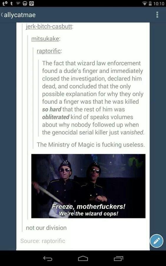 Freeze, Motherfuckers, It's The Wizard Cops!
