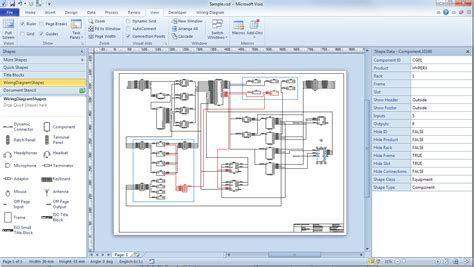 Visio Wiring Diagram Tutorial, Visio Wiring Diagram