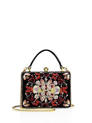 Alexander McQueen Embroidered Box Clutch