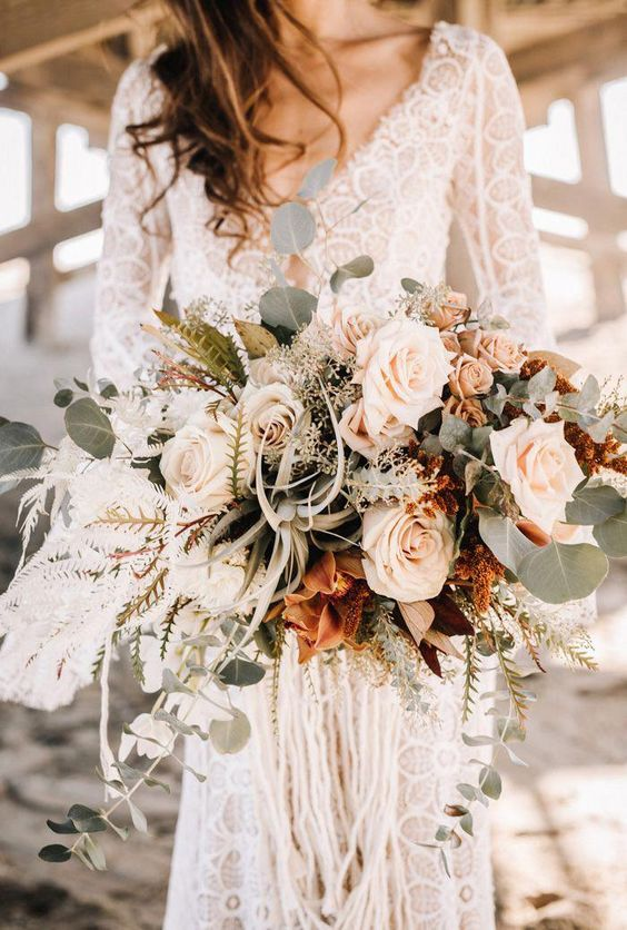 Get Your Boho Beachy Vibes Fill from This Seal Beach Pier Wedding Inspiration | Junebug Weddings #bohowedding