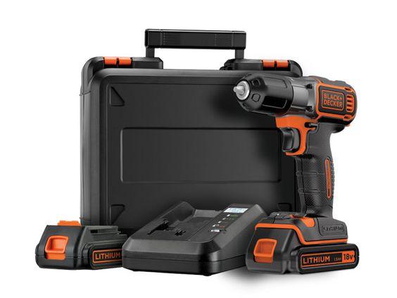 Bricolage - Perceuses sans fil - Usage intermédiaire - Perceuse sans-fil 18V dotée de la technologie Autosense™ et Autoselect®. Livrée dans un coffret avec 2 batteries et un chargeur 90 min - BLACK+DECKER™ Power Tools Product Details