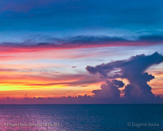 Powerful Cloud Formation in Colourful Sky Nature by BrightCreation, $25.00