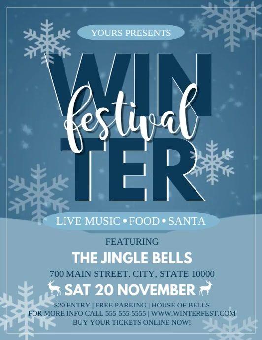 Winter Festival Winter Festival Event Video Event Flyer