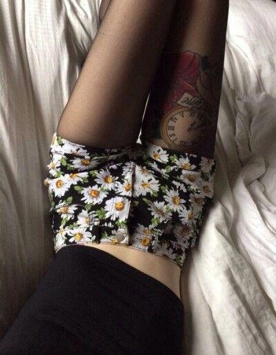 I like the shorts, but everything else is weird lol! Why the tattoo?