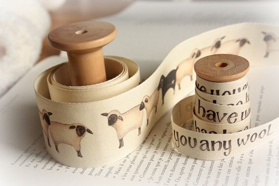 Sheep Ribbon. Repinned by www.mygrowingtraditions.com