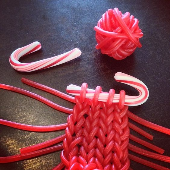 Knitting licorice candy for Christmas! http://knithacker.com/?p=9321 via @Knitsforlife #knithacker #knit #knitting