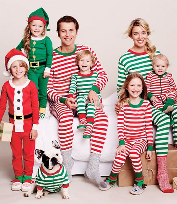 Adult Holiday Pajamas, Christmas pajamas, Red and White Striped ...