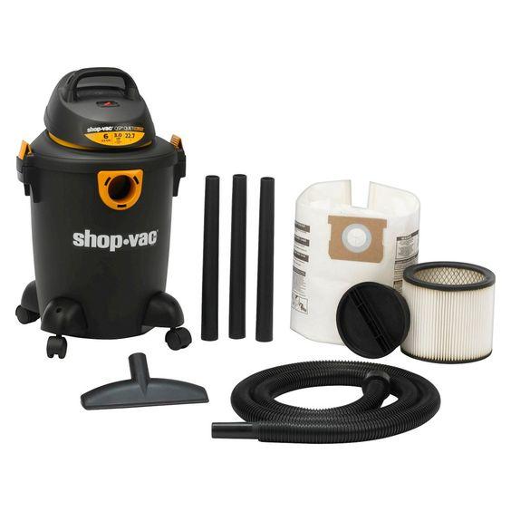 Shop Vac 6 Gallon 3.0 peak HP QSP Wet/Dry Vac - Black