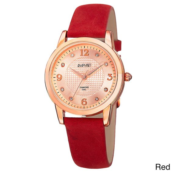 August Steiner Women's Quartz Diamond Strap Watch