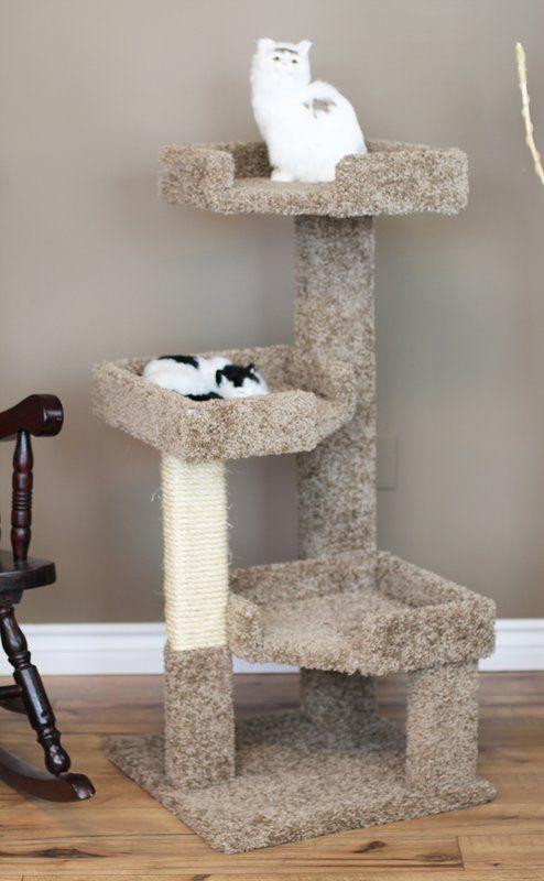 46 New Cat Condos Solid Wood Triple Kitty Pad Perch Cat Condo Pet Diy Projects Wood Cat