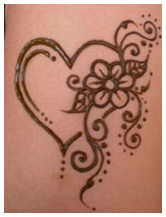 Best Mehndi Flower : Most loved heart henna designs mehendi design and flower
