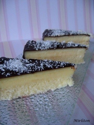 """Gâteau """"double couches"""" noix de coco"""