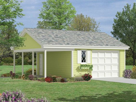 Pinterest the world s catalog of ideas for Garage plans with side porch