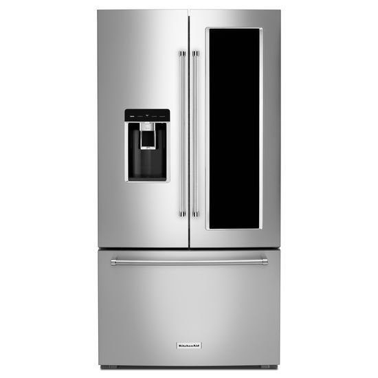 Krfc804gps By Kitchenaid French Door Refrigerators Goedekers Com Kitchen Aid French Door Refrigerator French Door Refrigerators