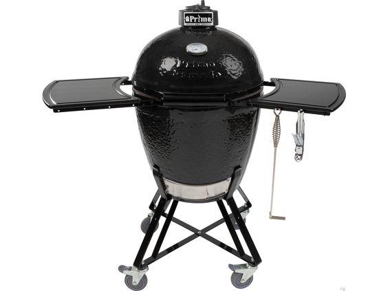 Primo Kamado All-In-One (Heavy Duty Stand, FDA Approved Side Shelves, Ash Tool and Grate Lifter) | 773