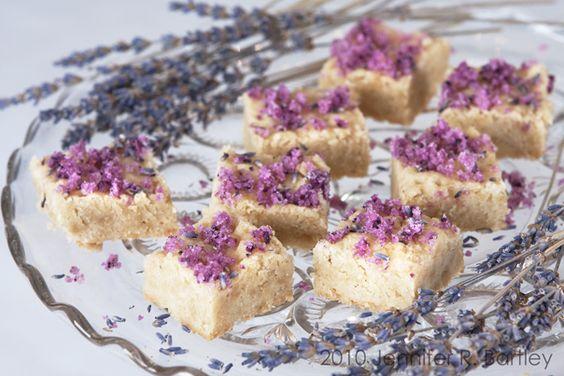 Shortbread with Lavender Sugar
