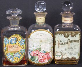Three Perfume Bottles